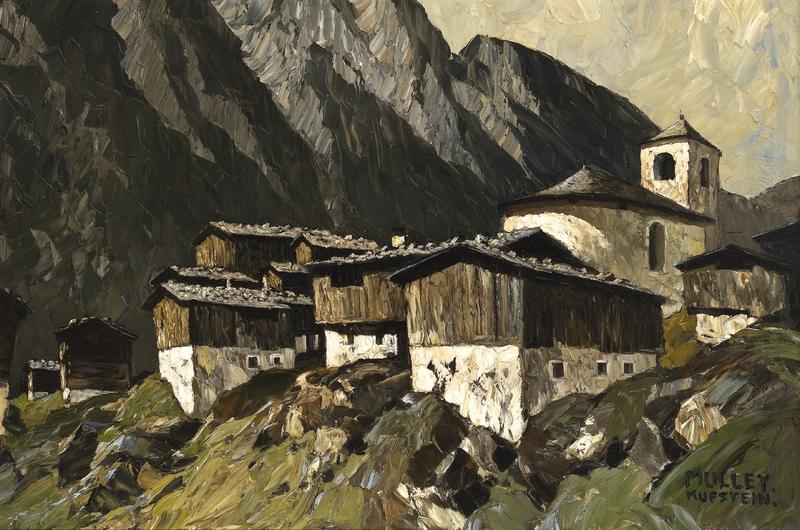 Berghof mit Kirche