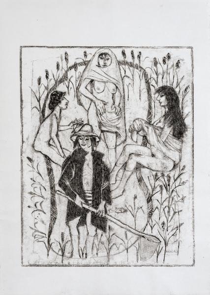 Vier Personen im Freien