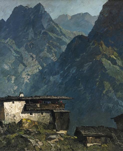 Berghof mit Scheune
