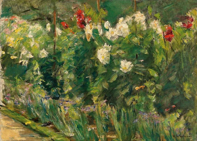 Rote und weiße Blumen nach Südosten