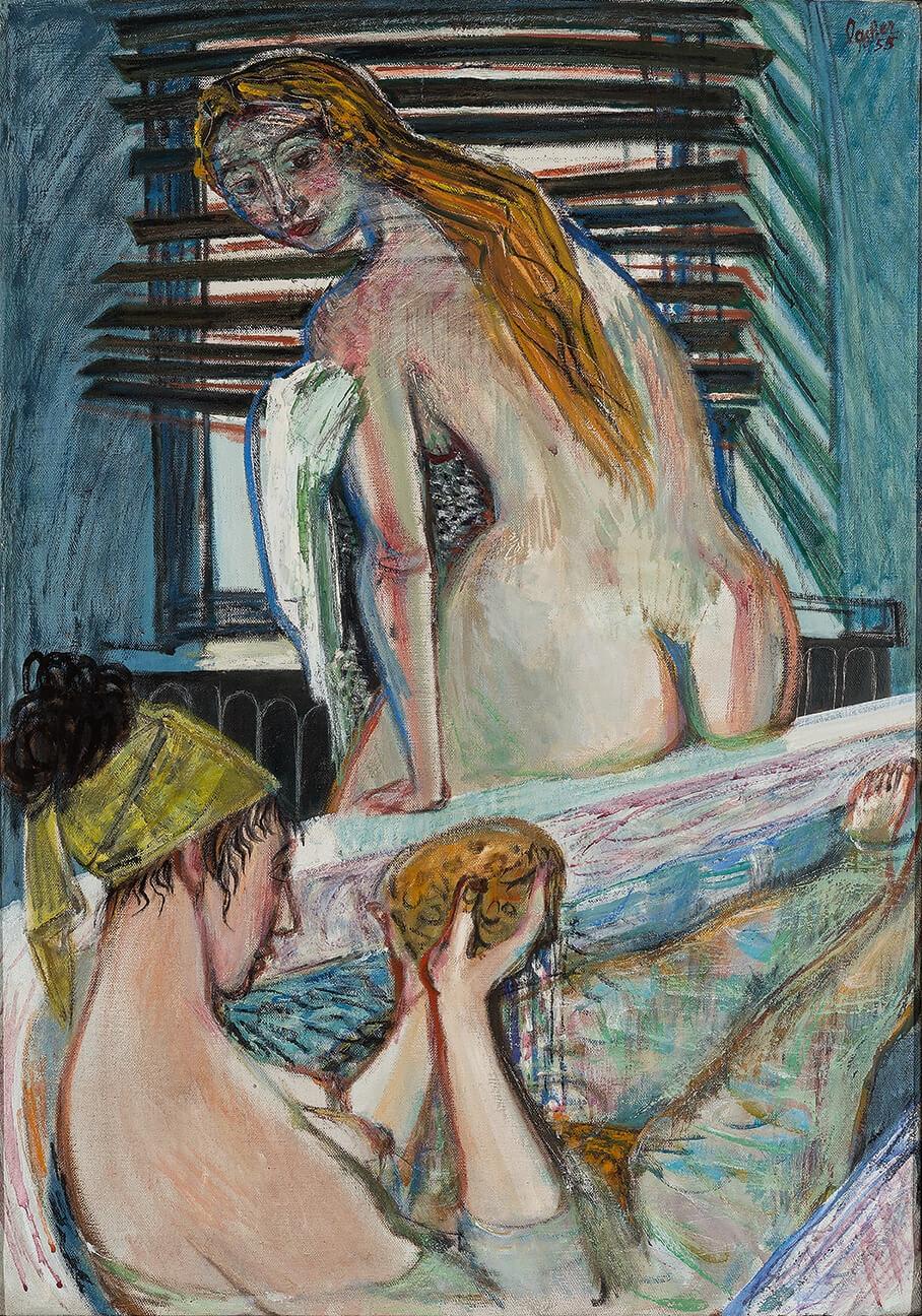 Zwei Frauen im Bad